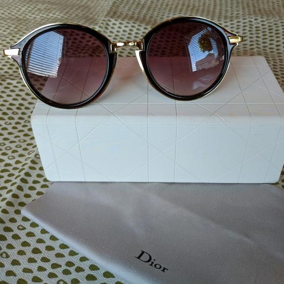 9587f1bbd88 Dior Accessories - Vintage Dior Round Sunglasses and Case